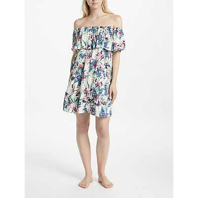 Watercult Floral Camo Off The Shoulder Dress, Multi