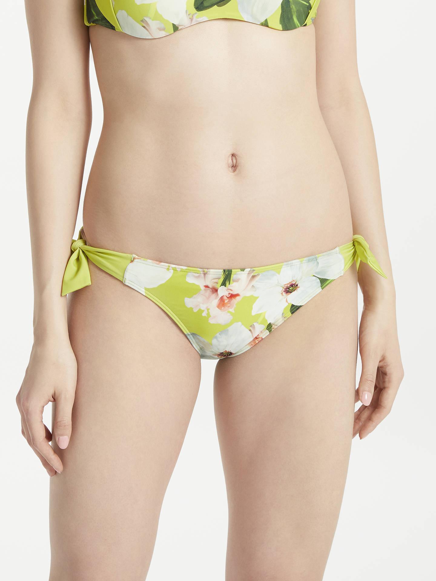 aa99bb20708 Buy Ted Baker Tuello Chatsworth Bloom Tie Side Bikini Briefs, Green/Multi,  1 ...