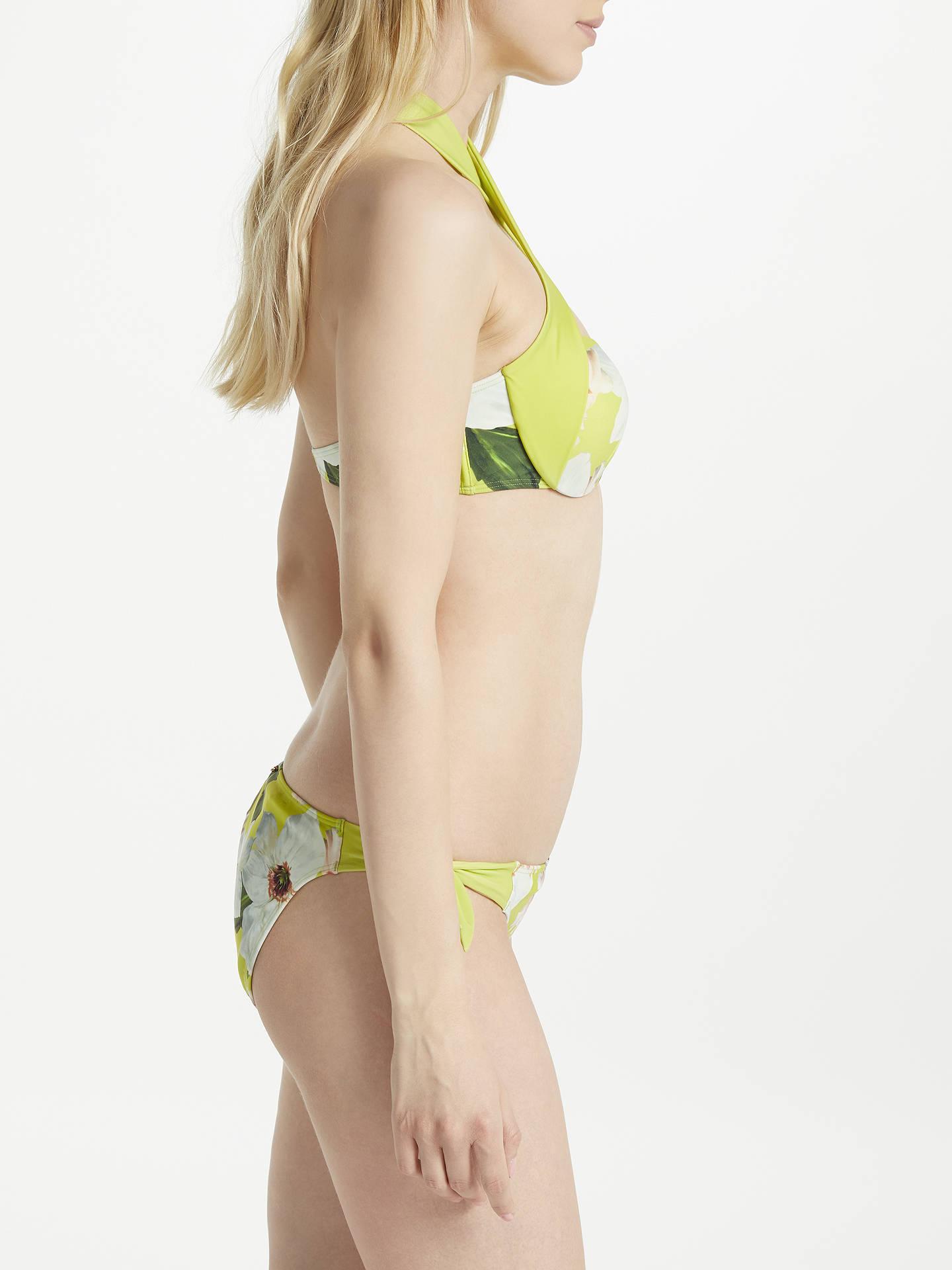 43d239c4f55 ... Buy Ted Baker Tuello Chatsworth Bloom Tie Side Bikini Briefs,  Green/Multi, 1