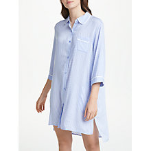 Buy DKNY 3/4 Sleeve Mixed Print Nightshirt, Blue Online at johnlewis.com