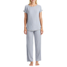 Buy DKNY Essential Lounge Stripe Pyjama Top, Grey Online at johnlewis.com