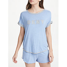 Buy DKNY Essential Lounge Logo Top, Blue Online at johnlewis.com