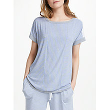 Buy DKNY Essential Ticking Stripe Pyjama Top, Blue Online at johnlewis.com