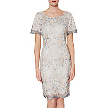 Buy Gina Bacconi Janice Embroidered Dress, Beige Online at johnlewis.com