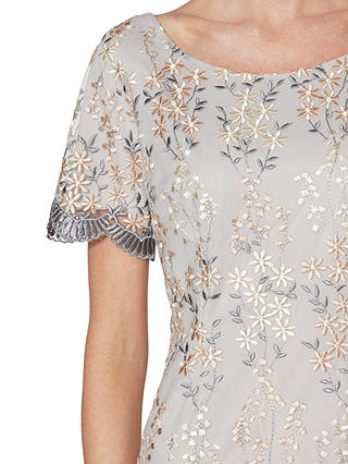 Buy Gina Bacconi Janice Embroidered Dress, Beige, 8 Online at johnlewis.com