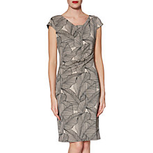 Buy Gina Bacconi Thea Leaf Dress, Beige/Black Online at johnlewis.com