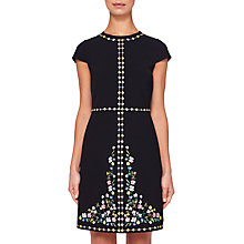Buy Ted Baker Hampton Court Shift Dress, Black/Multi Online at johnlewis.com