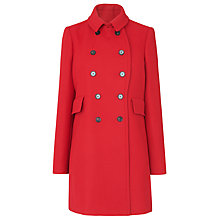 Buy L.K.Bennett Felli Short Pea Coat, Red Online at johnlewis.com