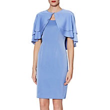 Buy Gina Bacconi Colette Dress and Cape, China Blue Online at johnlewis.com