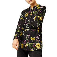 Buy Warehouse Dutch Floral Blouse, Black Online at johnlewis.com