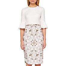 Buy Ted Baker Barbz Majestic Ruffle Cuffs Dress, Ivory Online at johnlewis.com
