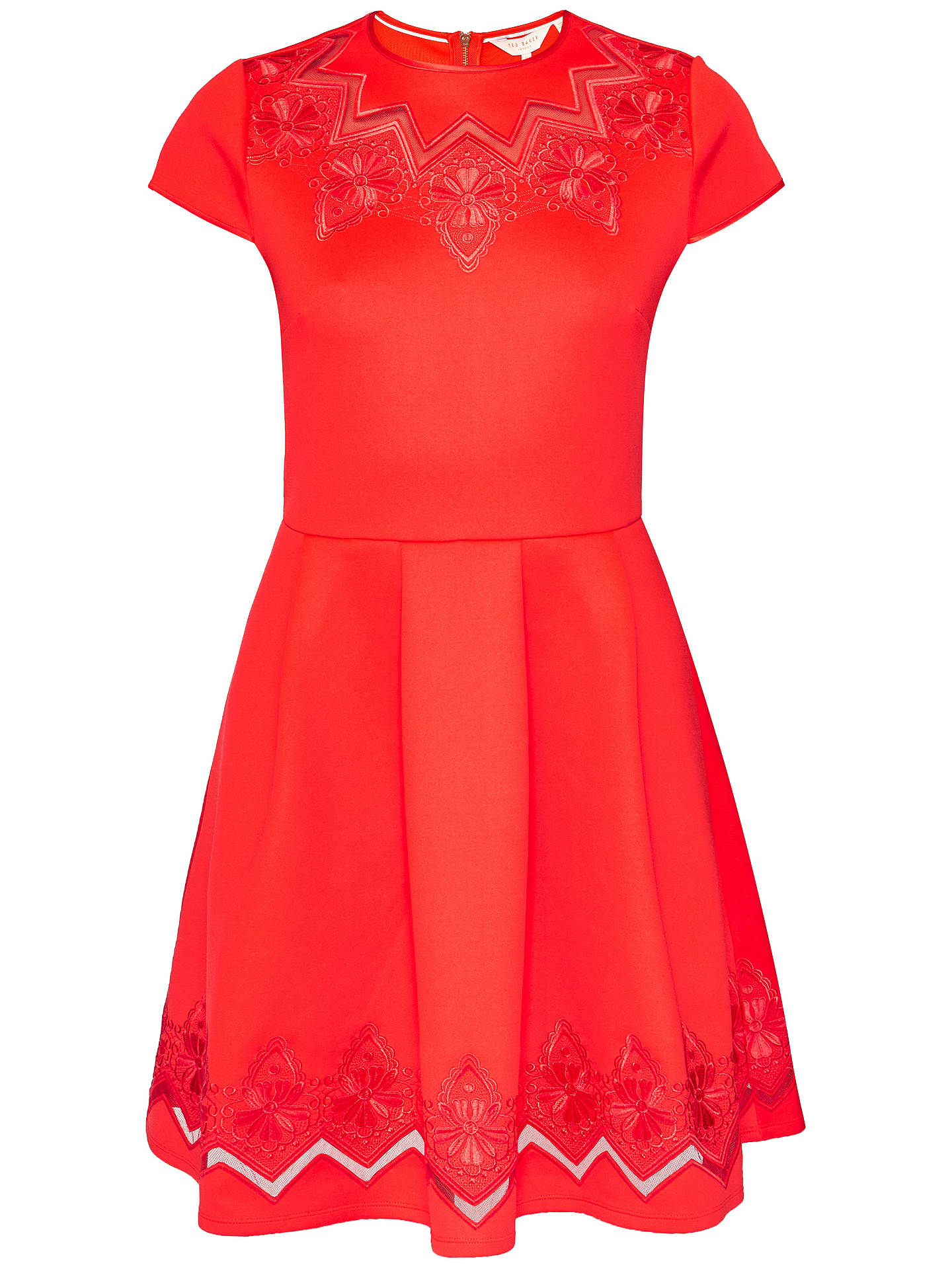 5ff628b6f6 ... BuyTed Baker Cheskka Lace and Mesh Detail Skater Dress