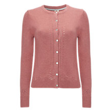Buy White Stuff Raindrop Button Cardigan, Dusk Pink Online at johnlewis.com