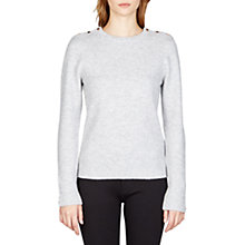 Buy Ted Baker Gorjie Textured Jumper, Light Grey Online at johnlewis.com