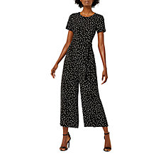 Buy Warehouse Atom Spot Print Jumpsuit, Navy Online at johnlewis.com