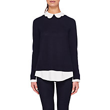 Buy Ted Baker Bronwen Scallop Collar Wool Silk Blend Jumper Online at johnlewis.com
