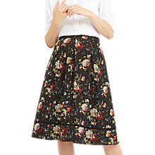Buy Oasis Organza Rose Print Midi Skirt, Multi Online at johnlewis.com