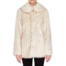 Buy Ted Baker Olleen Winter Faux Fur Coat, Ivory Online at johnlewis.com