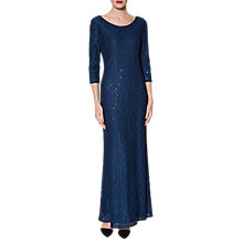 Buy Gina Bacconi Philomena Lace Maxi Dress, Navy Online at johnlewis.com