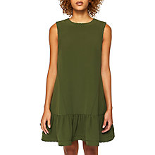 Buy Ted Baker Mandii Scalloped Dress, Khaki Online at johnlewis.com