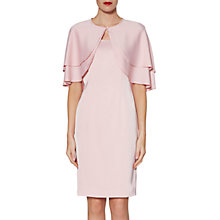Buy Gina Bacconi Colette Satin Crepe Dress And Cape, Rose Petal Online at johnlewis.com