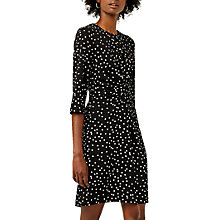 Buy Warehouse Atom Print Crepe Dress, Multi Online at johnlewis.com