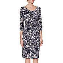 Buy Gina Bacconi Milena Floral Dress, Navy/Pink Online at johnlewis.com