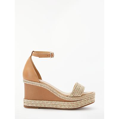 Modern Rarity Kirie Wedge Heel Sandals, Brown Leather
