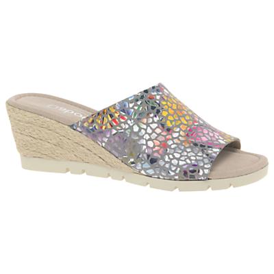 Gabor Arbury Wide Fit Wedge Heel Sandals, Multi Leather