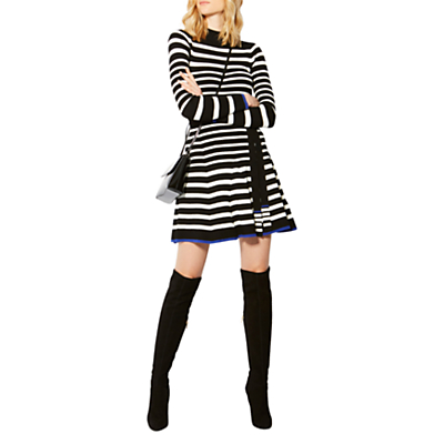 Product photo of Karen millen knitted striped skater dress multi