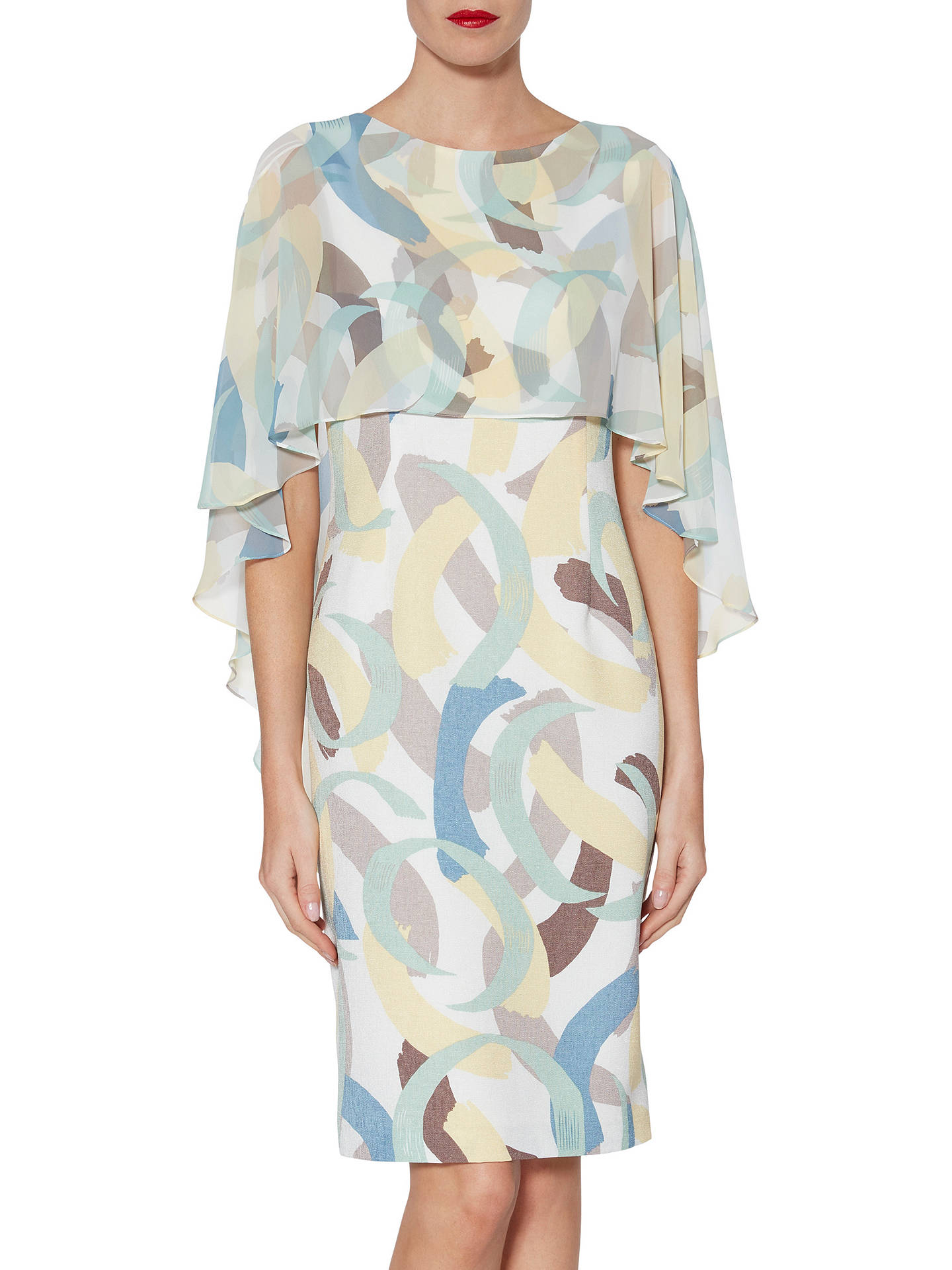 671d2543c7 Gina Bacconi Maisie Dress and Cape, Multi