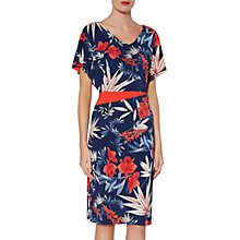 Buy Gina Bacconi Larisa Exotic Print Dress, Navy Online at johnlewis.com