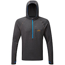 Buy Ronhill Momentum Victory Running Hoodie, Charcoal Marl/Electric Blue Online at johnlewis.com