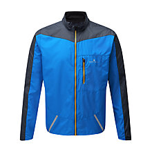 Buy Ronhill Stride Windspeed Men's Running Jacket, Electric Blue/Charcoal Online at johnlewis.com