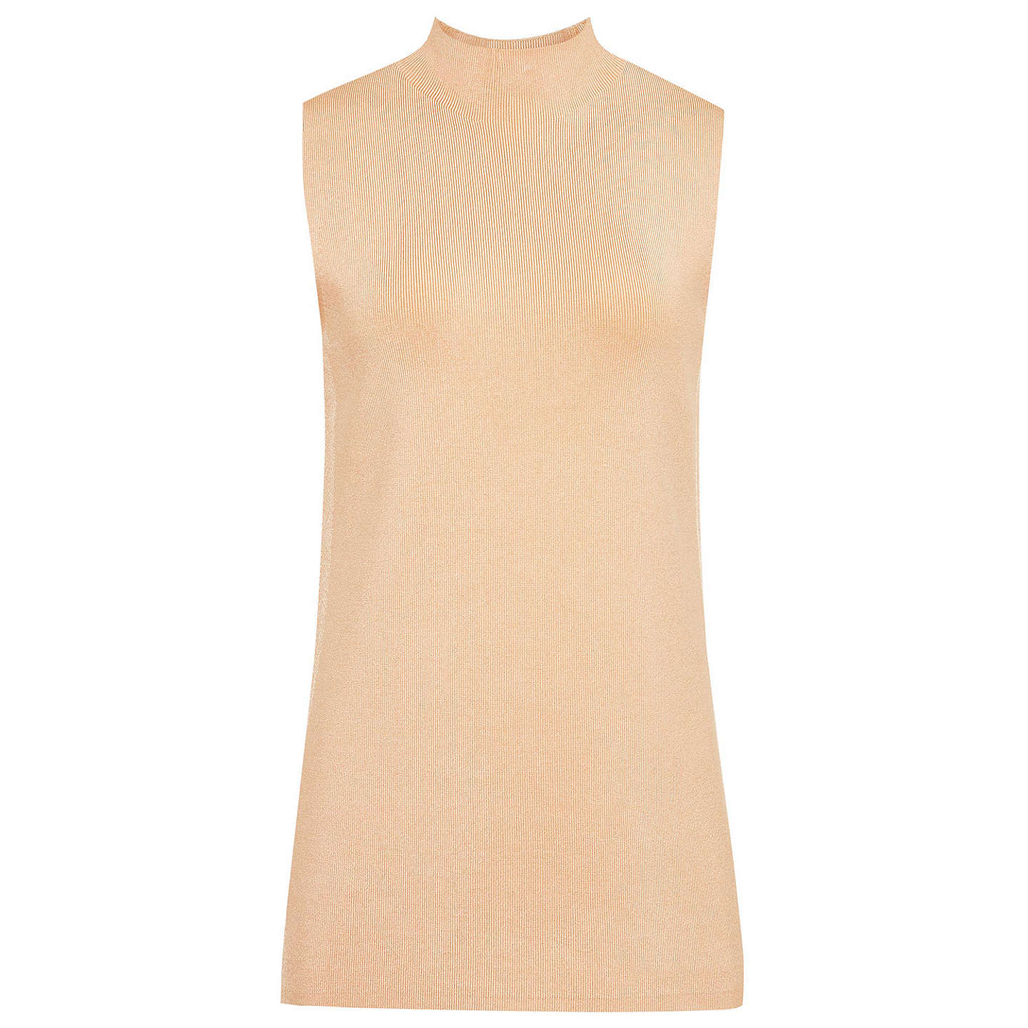 BuyReiss Luciana High Neck T-shirt, Apricot, S Online at johnlewis.com