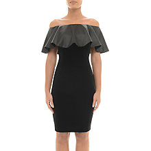 Buy Adrianna Papell Off Shoulder Velvet Dress, Black Online at johnlewis.com