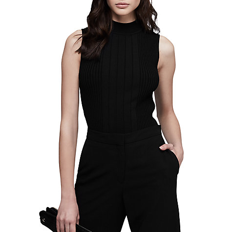 Buy Reiss Brinley Cut Out Detail Top, Black Online at johnlewis.com