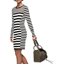 Buy Reiss Jolie Stripe Dress, Black/White Online at johnlewis.com