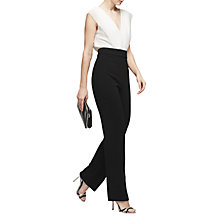 Buy Reiss Martha Wide Leg Jumpsuit, Black/Off White Online at johnlewis.com