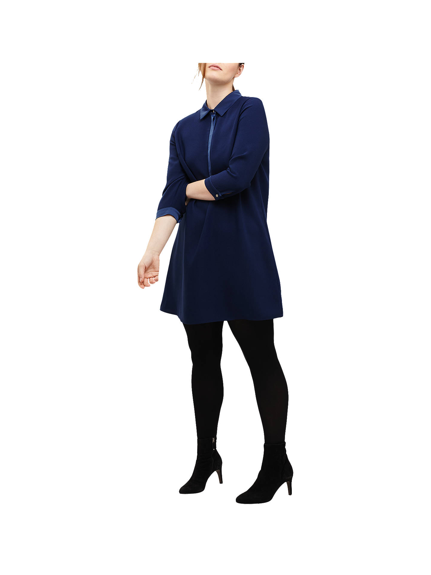 Buy Studio 8 Emily Shirt Dress, Blue, 12 Online at johnlewis.com
