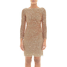 Buy Adrianna Papell Sequin Cowl Back Dress, Champagne Gold Online at johnlewis.com