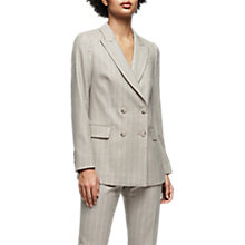 Buy Reiss Pixie Tailored Double-Breasted Pinstripe Jacket, Grey Online at johnlewis.com