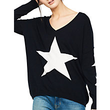 Buy Mint Velvet Star Front Cocoon Jumper, Navy Online at johnlewis.com