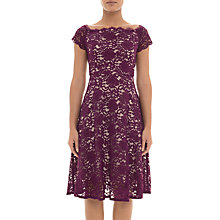 Buy Adrianna Papell Lace Midi Dress Petite, Dark Magenta Online at johnlewis.com