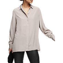 Buy Reiss Brazil Long Sleeve Blouse, Husk Online at johnlewis.com