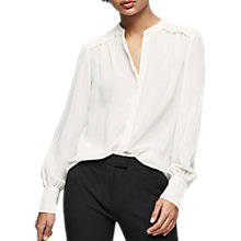 Buy Reiss Eri Long Sleeve Blouse, White Online at johnlewis.com