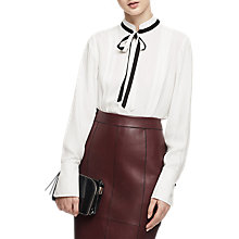 Buy Reiss Tala Pleated Blouse, Off White Online at johnlewis.com