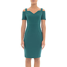 Buy Adrianna Papell Crepe Cold Shoulder Sheath Dress, Deep Teal Online at johnlewis.com