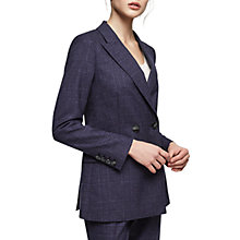 Buy Reiss Cora Tailored Double Breasted Jacket, Navy Online at johnlewis.com