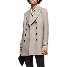 Buy Reiss Luella Tailored Wool Coat, Light Grey Online at johnlewis.com